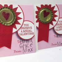 Simple Medal Valentines
