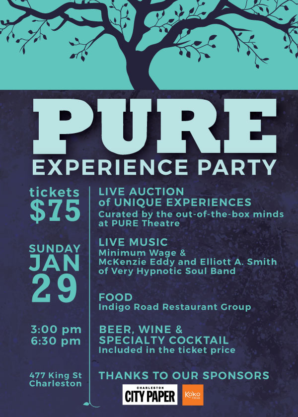 PURE Theatre Experience Party Invitation designed by Anna Hartman, Creative